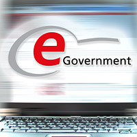 PC mit Monitor - e-Government -